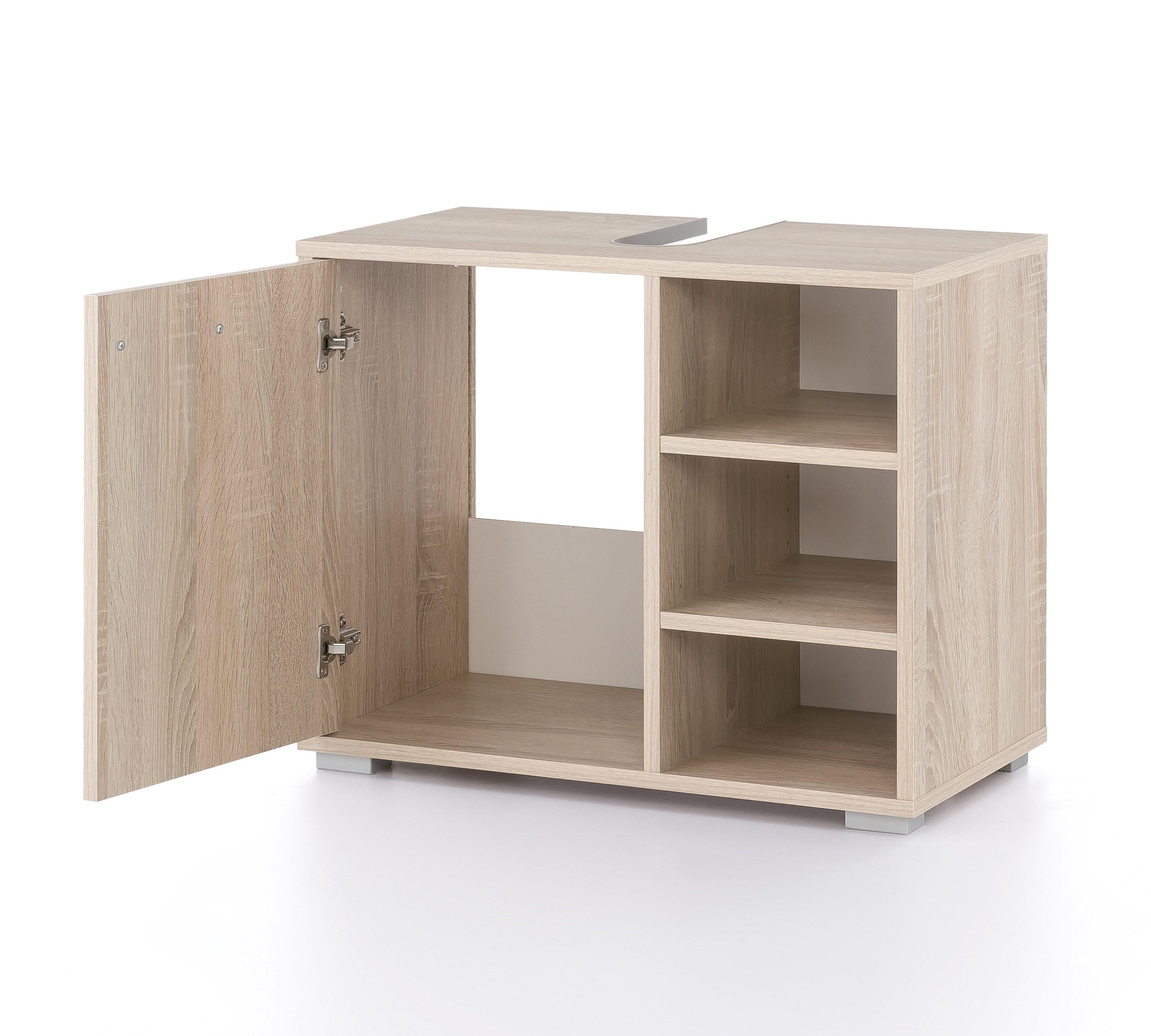 bad waschbeckenunterschrank lindau 60 cm breit eiche sonoma bad waschbeckenunterschr nke. Black Bedroom Furniture Sets. Home Design Ideas