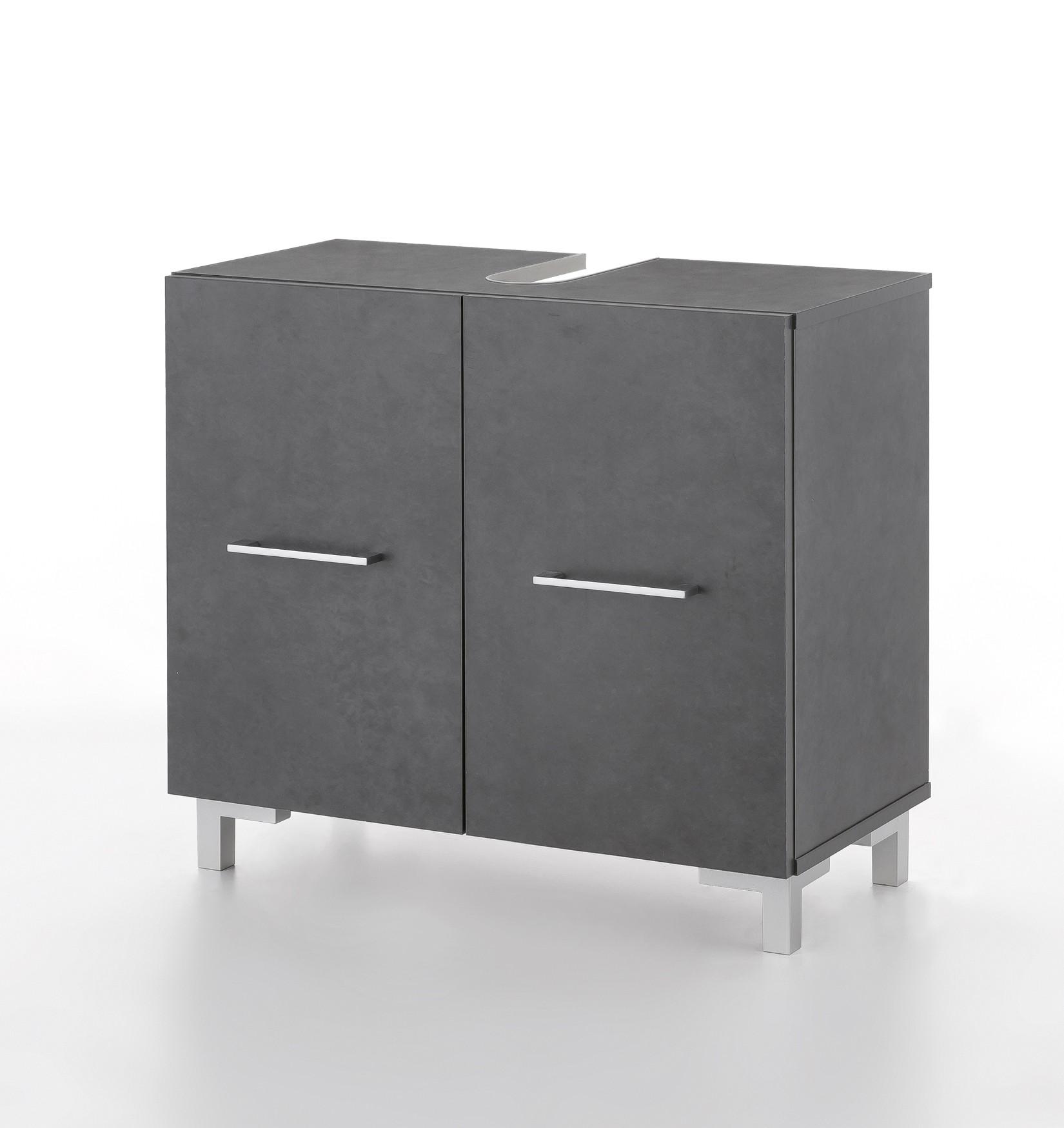 bad waschbeckenunterschrank ulm 2 t rig 65 cm breit graphit graphit bad. Black Bedroom Furniture Sets. Home Design Ideas