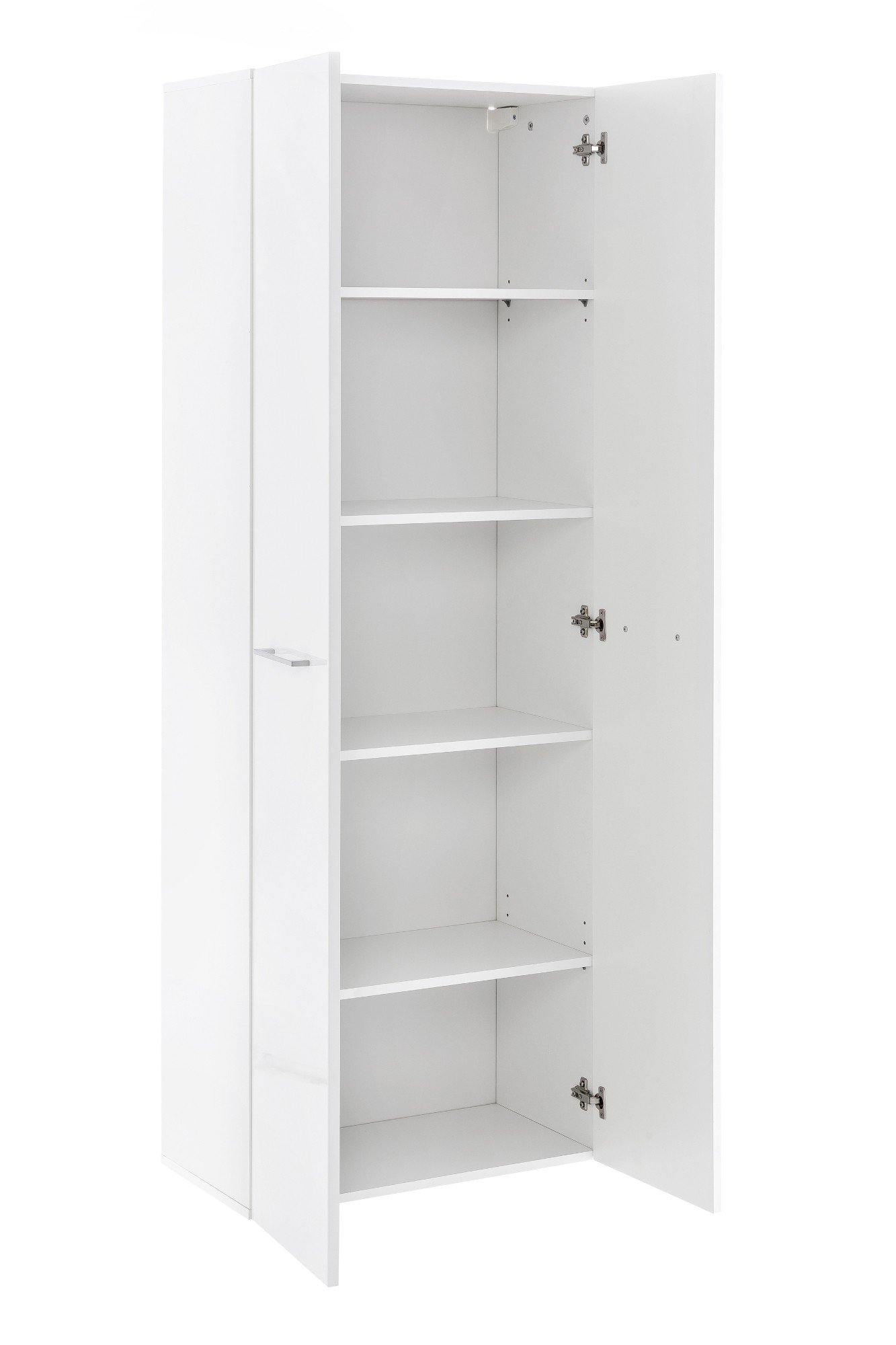 badschrank ulm badezimmerschrank hochschrank 2 t ren 5 f cher 60 cm weiss ebay. Black Bedroom Furniture Sets. Home Design Ideas