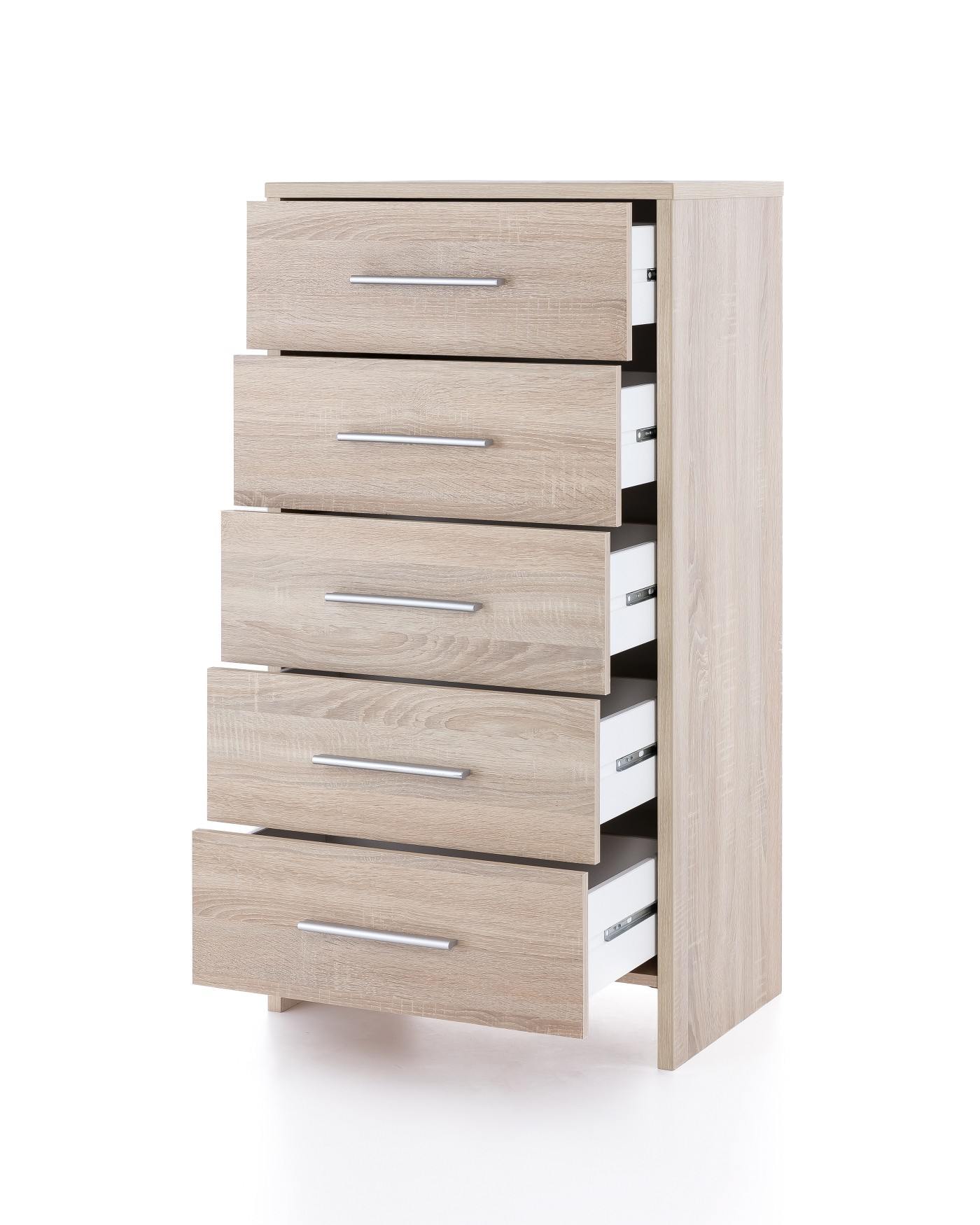 schubladenschrank bahia kommode highboard mit 5 schubk sten 60 cm eiche sonoma ebay. Black Bedroom Furniture Sets. Home Design Ideas