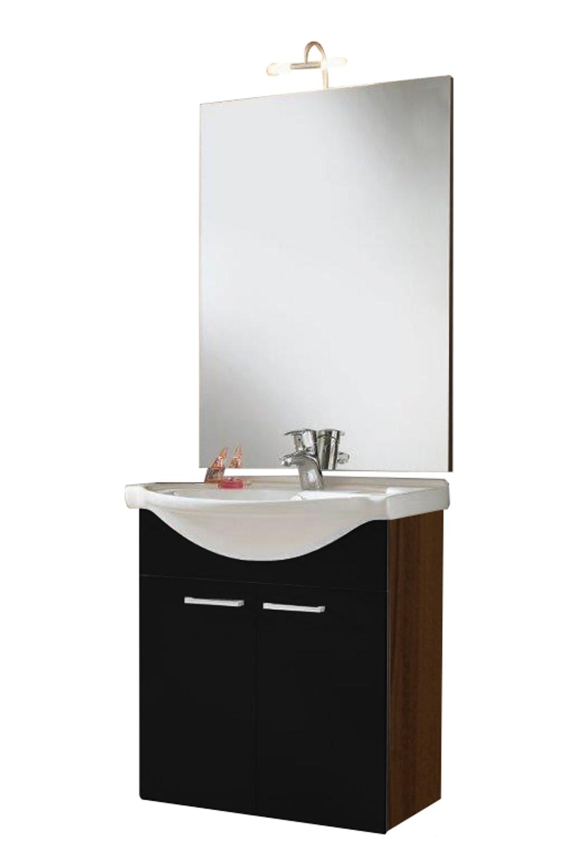 badm bel set adelano mit waschplatz 7 teilig 127 cm breit schwarz bad badm belsets. Black Bedroom Furniture Sets. Home Design Ideas