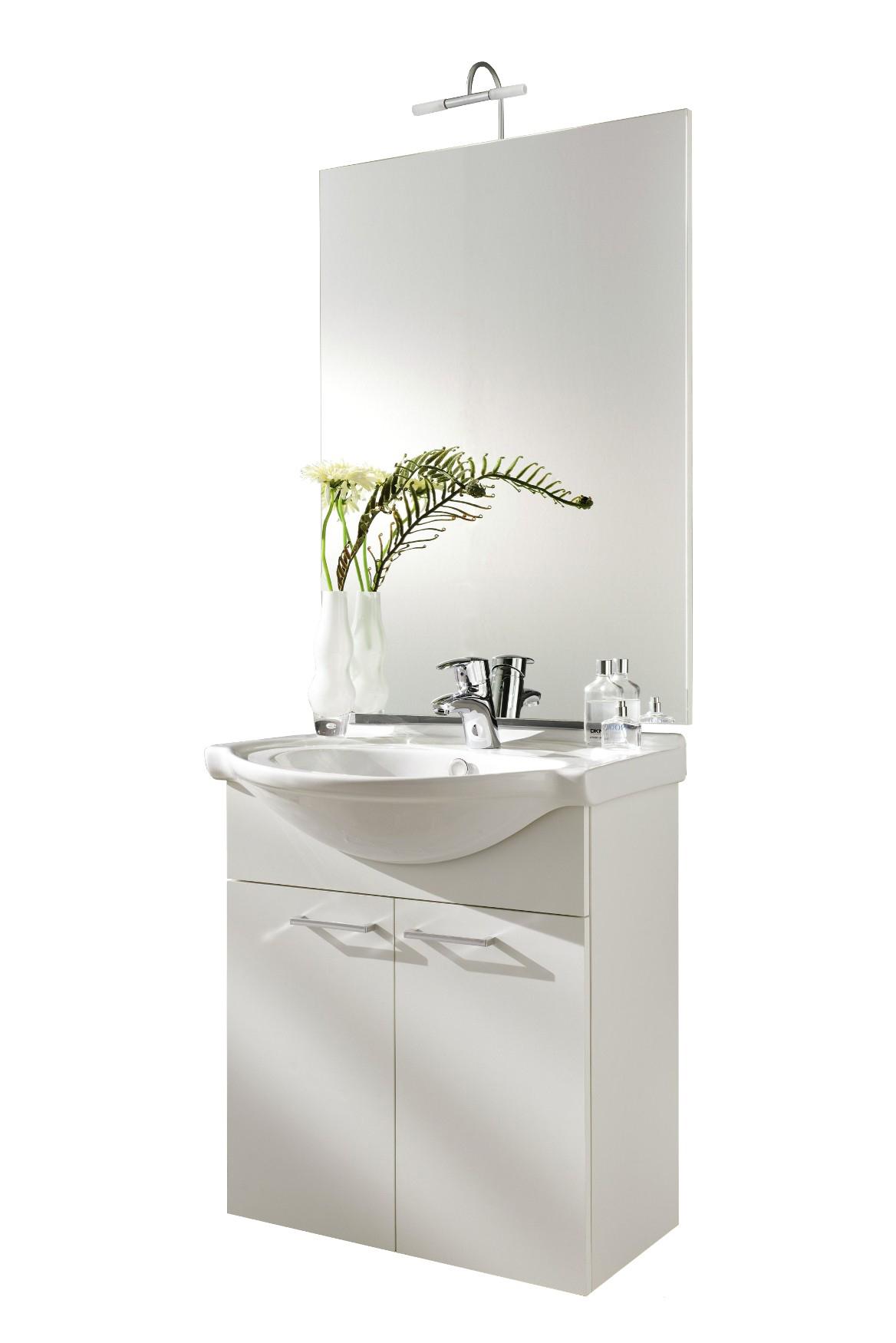 Waschplatz ADELANO - 4-teilig - 67 cm breit - Weiß Bad Badmöbelsets
