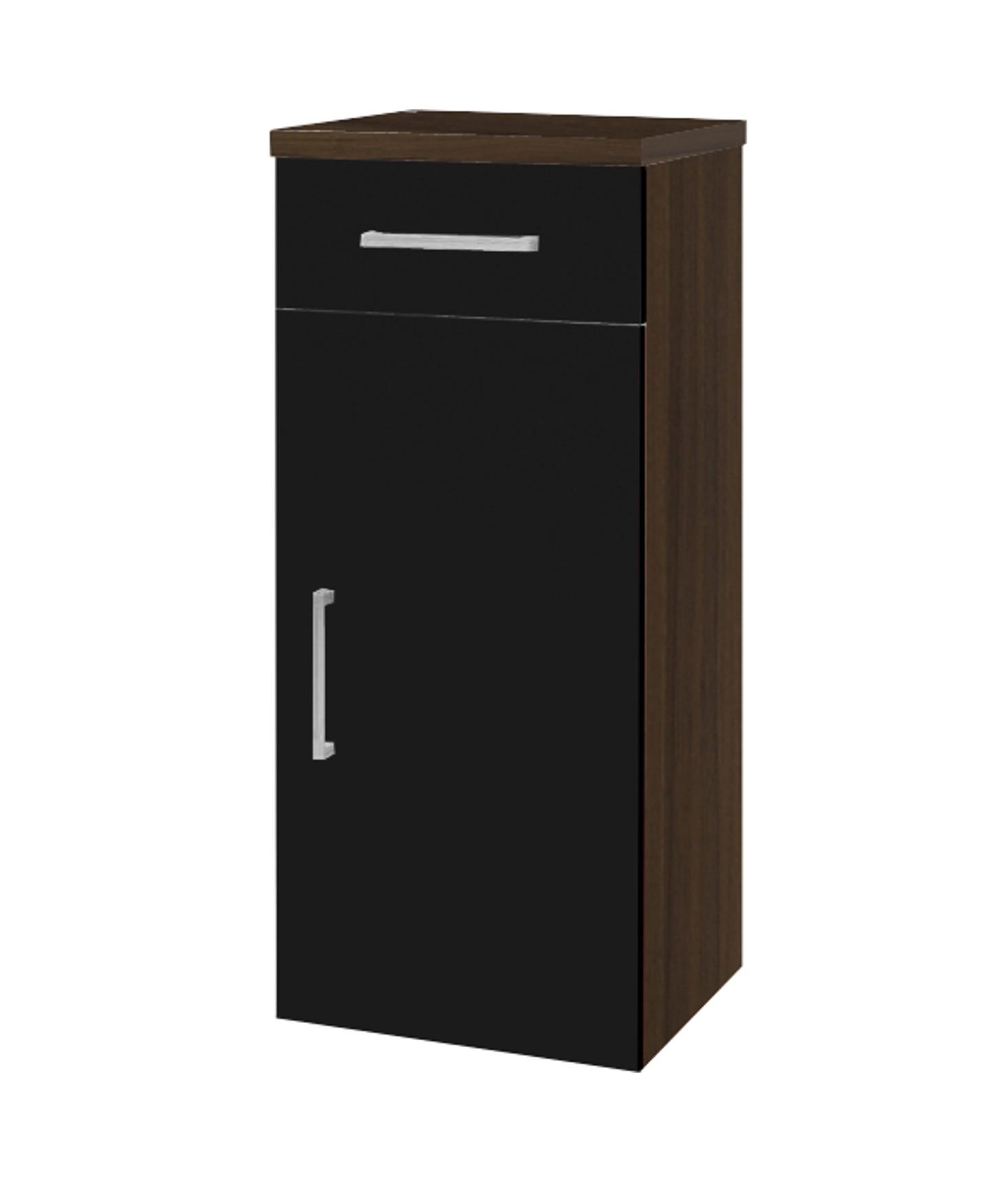 bad unterschrank adelano 1 t rig 1 schublade 30 cm breit schwarz bad unterschr nke. Black Bedroom Furniture Sets. Home Design Ideas