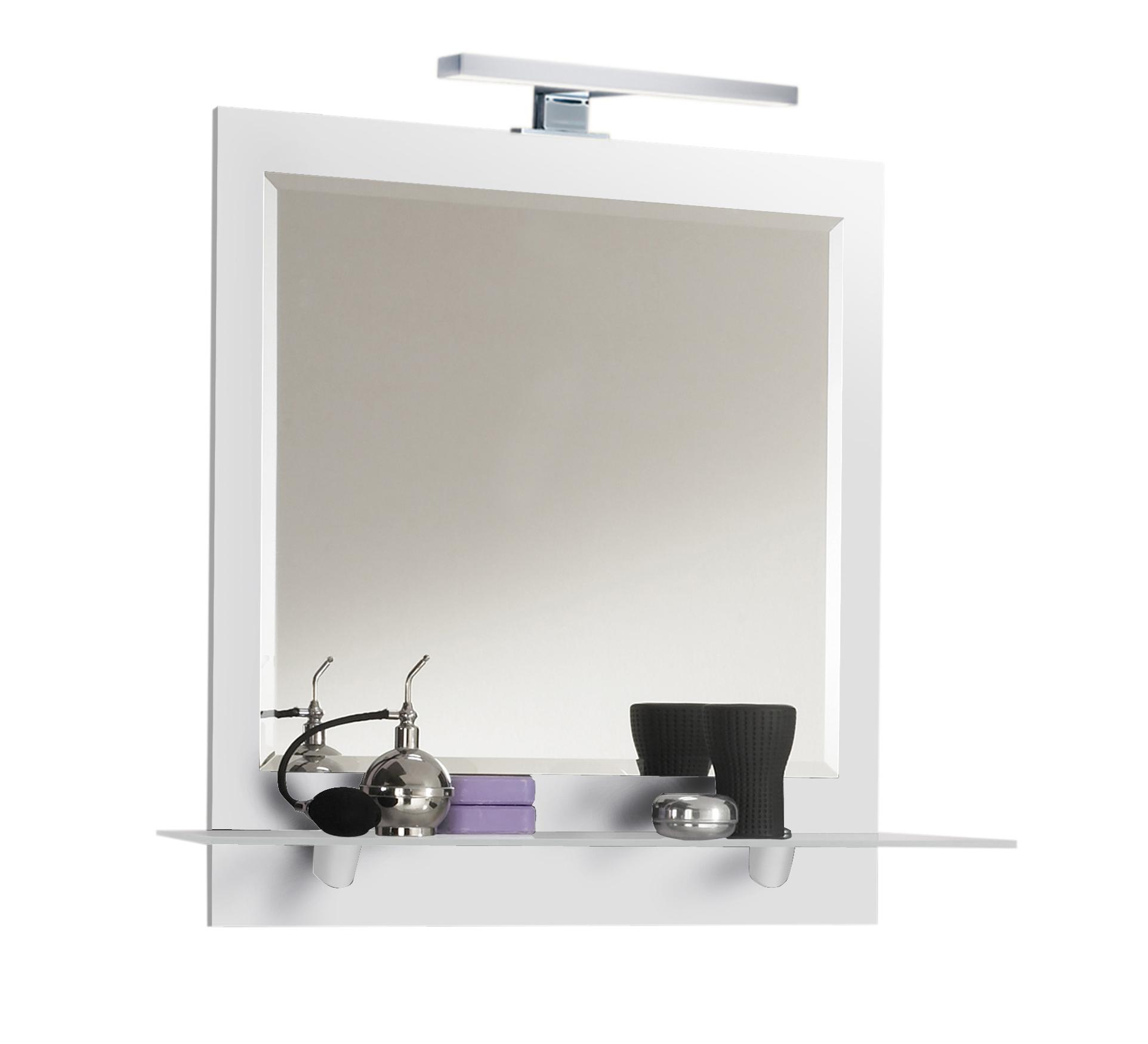 Spiegelpaneel mit ablage und led lampe badezimmer spiegel for Spiegel ablage badezimmer