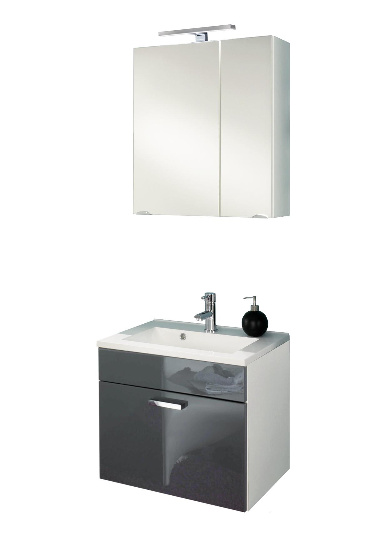 badm bel set marano mit spiegelschrank 4 teilig 60. Black Bedroom Furniture Sets. Home Design Ideas