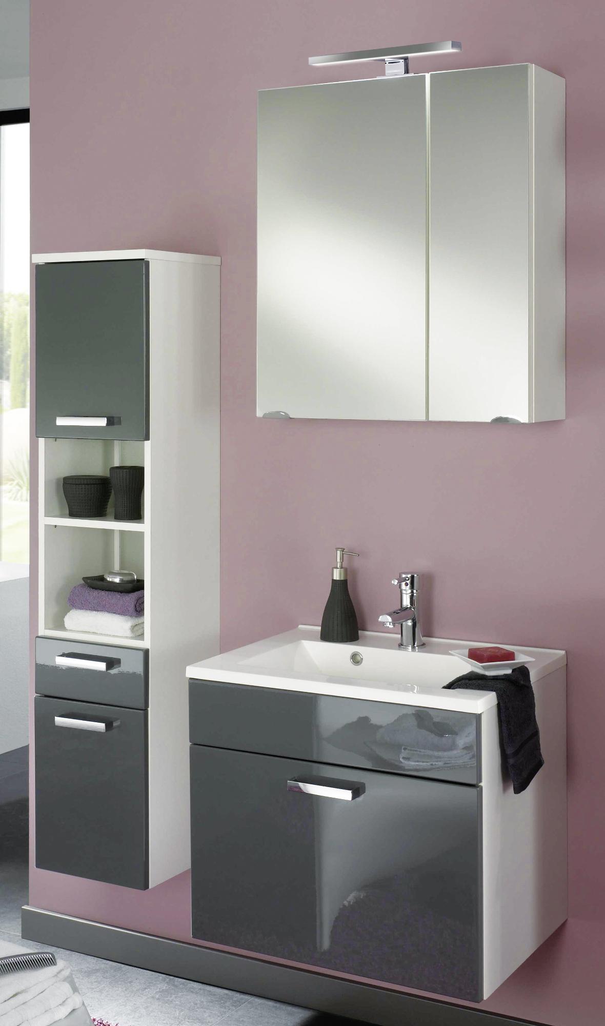 badm bel set marano mit spiegelschrank 5 teilig 90. Black Bedroom Furniture Sets. Home Design Ideas