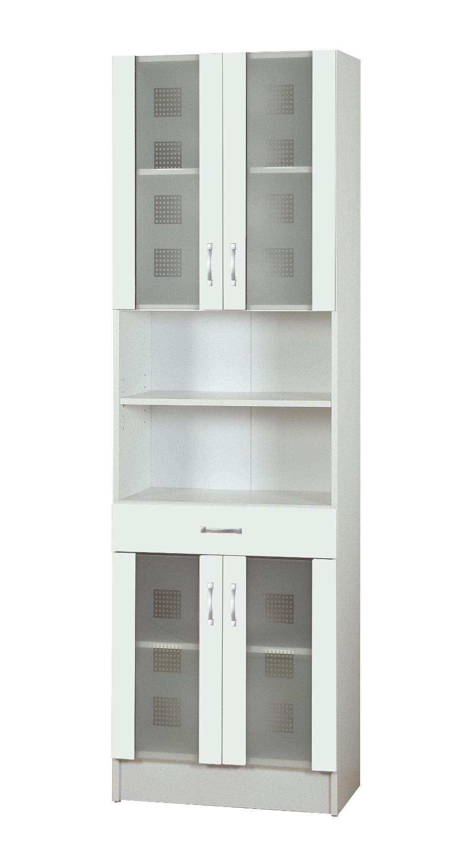 badezimmer hochschrank nizza seitenschrank mit 4 t ren 1 schublade 60 cm weiss ebay. Black Bedroom Furniture Sets. Home Design Ideas