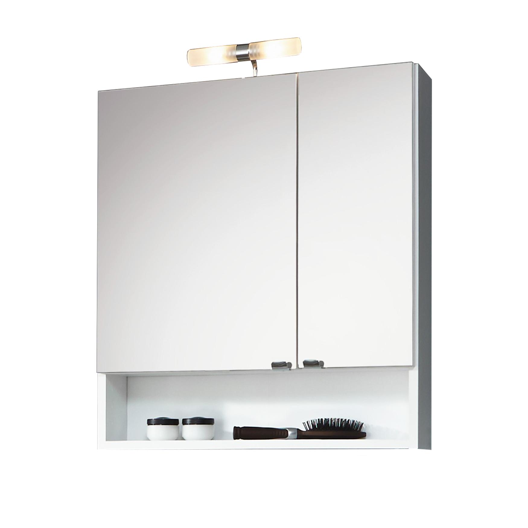 badm bel set nizza spiegelschrank mit fach 5 teilig. Black Bedroom Furniture Sets. Home Design Ideas