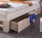 Bettschubladen-Set - Massivholz - White Wash