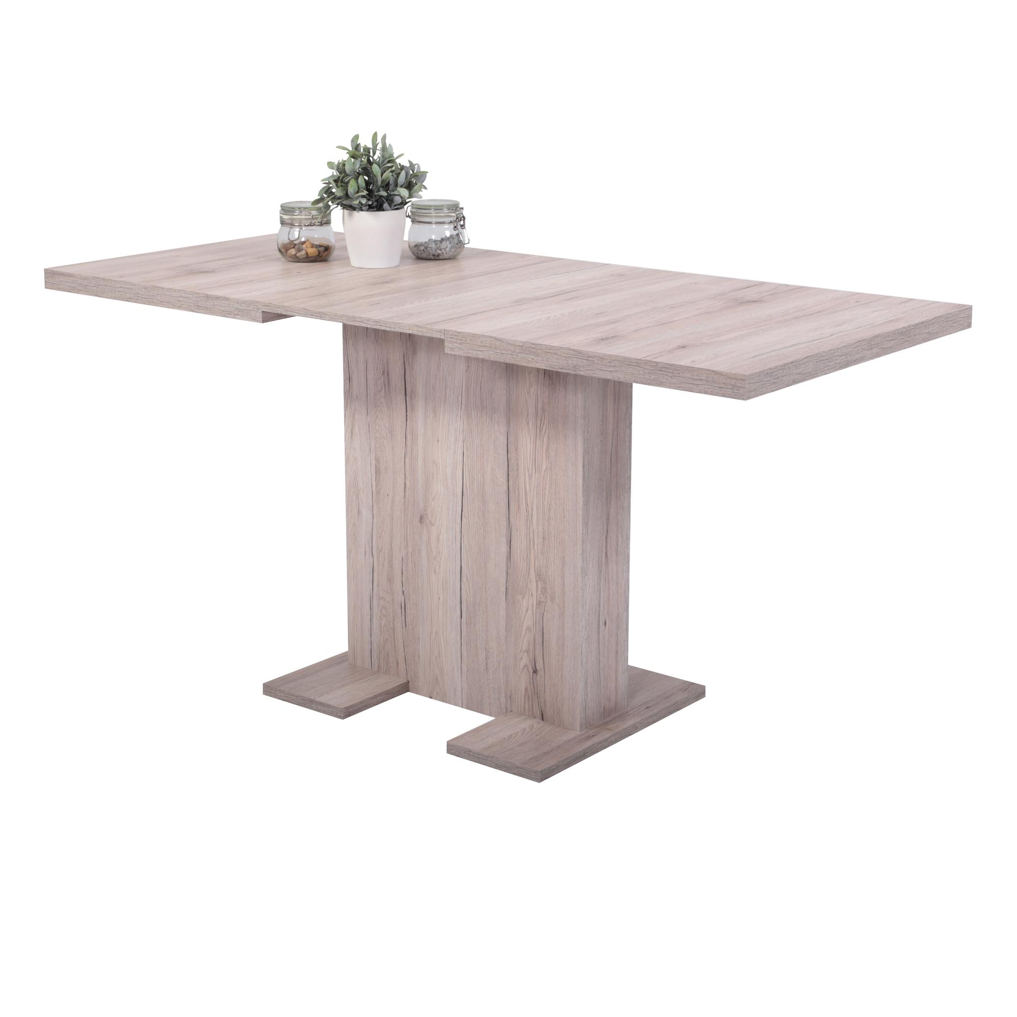 Esstisch BRITT Tischplatte ausziehbar 110 x 69 cm