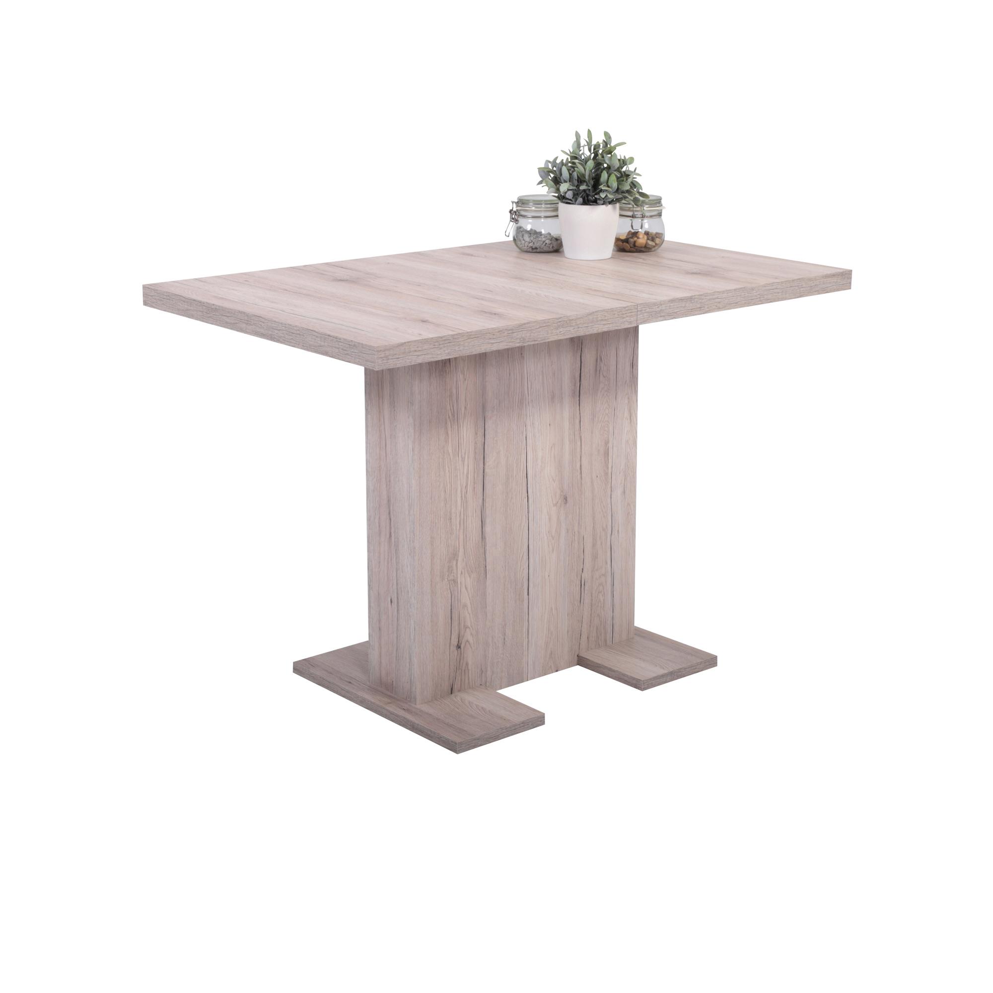 esstisch britt tischplatte ausziehbar 110 x 69 cm eiche sand wohnen esstische. Black Bedroom Furniture Sets. Home Design Ideas
