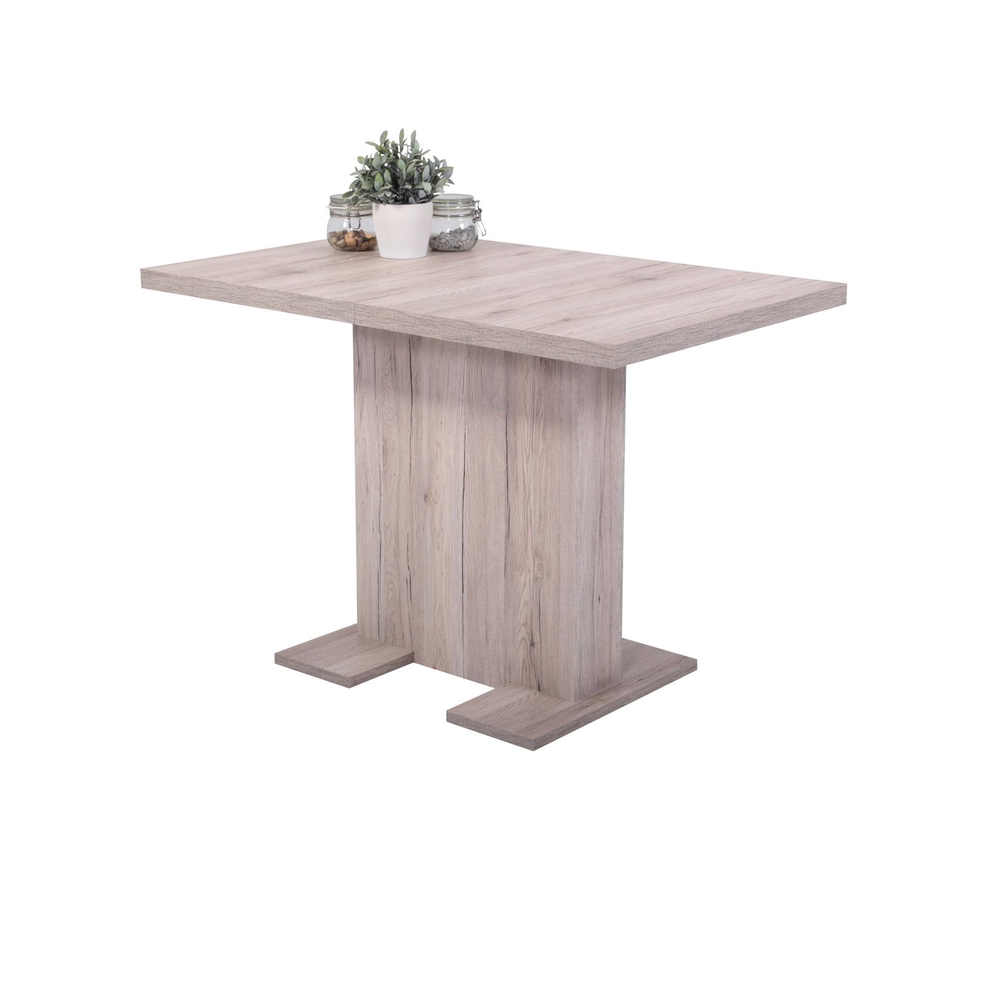 Esstisch BRITT   Tischplatte Ausziehbar   110 X 69 Cm   Eiche Sand