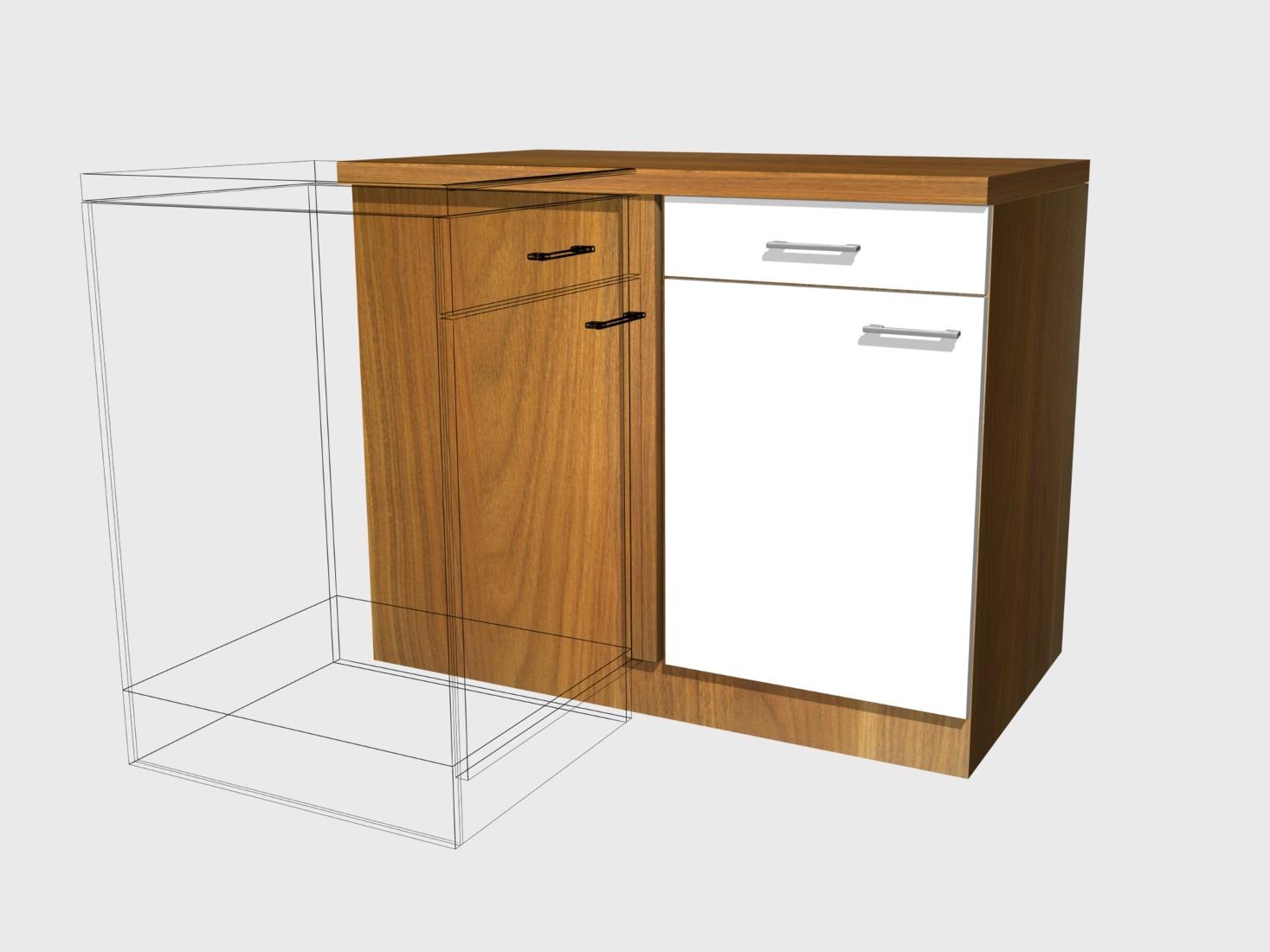 k chen eckunterschrank cosmo 1 t rig 110 cm breit perlmutt wei k che k chen unterschr nke. Black Bedroom Furniture Sets. Home Design Ideas