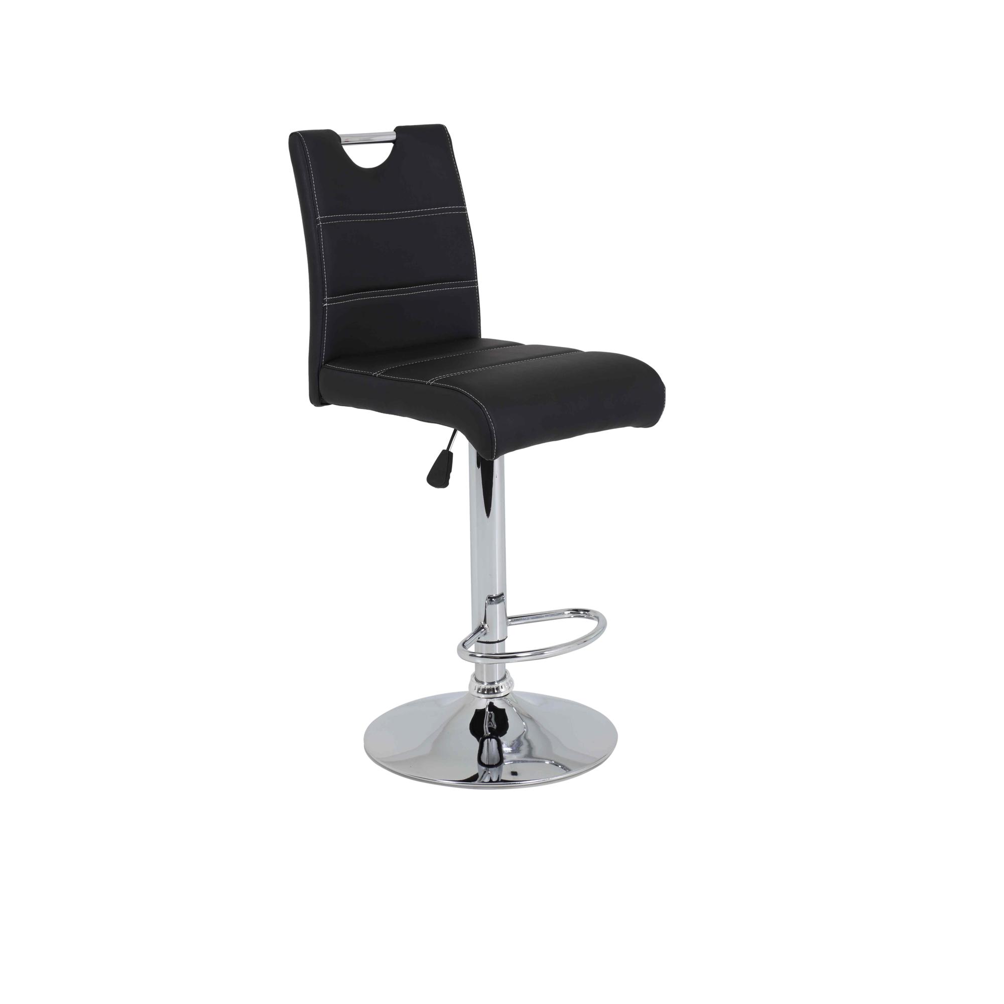 barhocker miranda 2er set h henverstellbar kunstleder 38 cm breit schwarz wohnen st hle. Black Bedroom Furniture Sets. Home Design Ideas