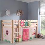 Spielbett PINO  Spring  3 - Liegefläche 90 x 200 cm - Kiefer Massiv
