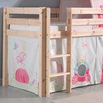 Spielbett PINO  Princess  2 - Liegefläche 90 x 200 cm - Kiefer Massiv
