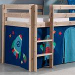Spielbett PINO  Astro  2 - Liegefläche 90 x 200 cm - Kiefer Massiv