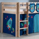 Spielbett PINO  Astro  3 - Liegefläche 90 x 200 cm - Kiefer Massiv
