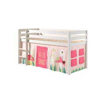 """Spielbett PINO """"Spring"""" 1 - Liegefläche 90 x 200 cm - Kiefer Weiß Massiv"""