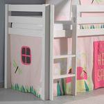 Spielbett PINO  Spring  2 - Liegefläche 90 x 200 cm - Kiefer Weiß Massiv