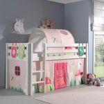 Spielbett PINO  Spring  4 - Liegefläche 90 x 200 cm - Kiefer Weiß Massiv