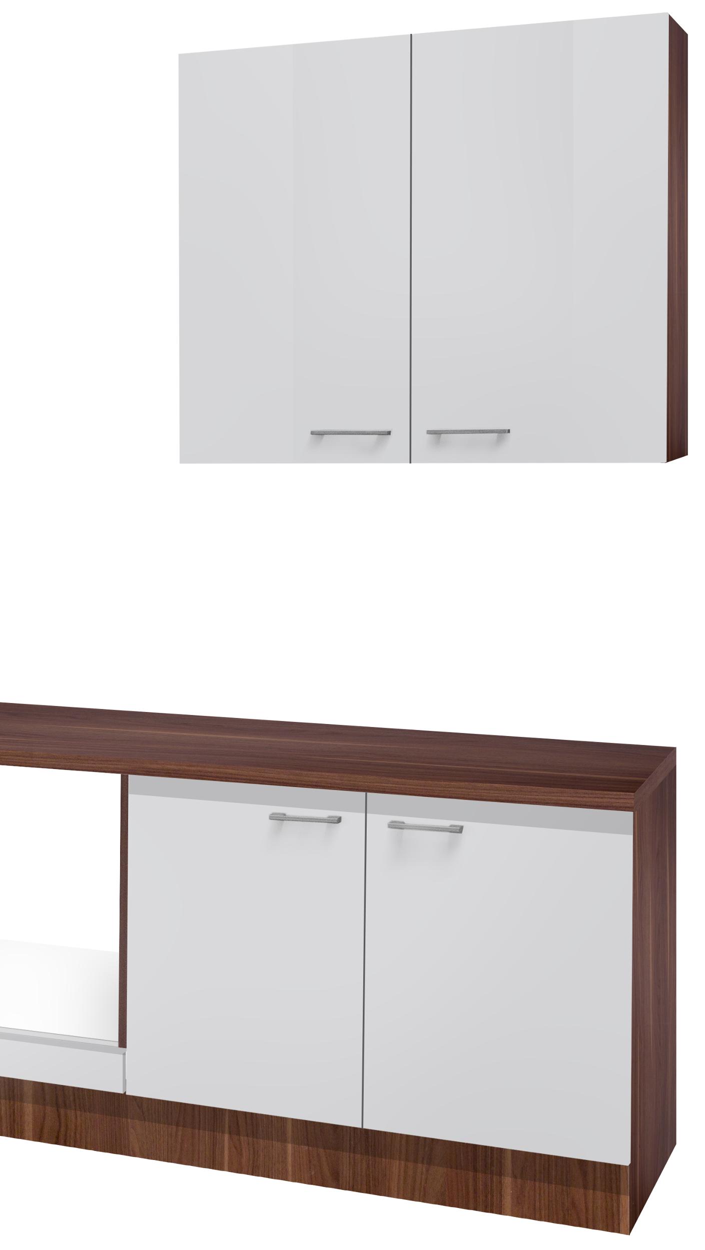 einbauk che cosmo k chenzeile k chenblock ohne e ger te leerblock 280 cm weiss ebay. Black Bedroom Furniture Sets. Home Design Ideas