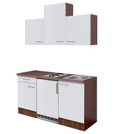 Singleküche COSMO - mit Elektro-Kochfeld - 9-teilig - Breite 150 cm - Weiß