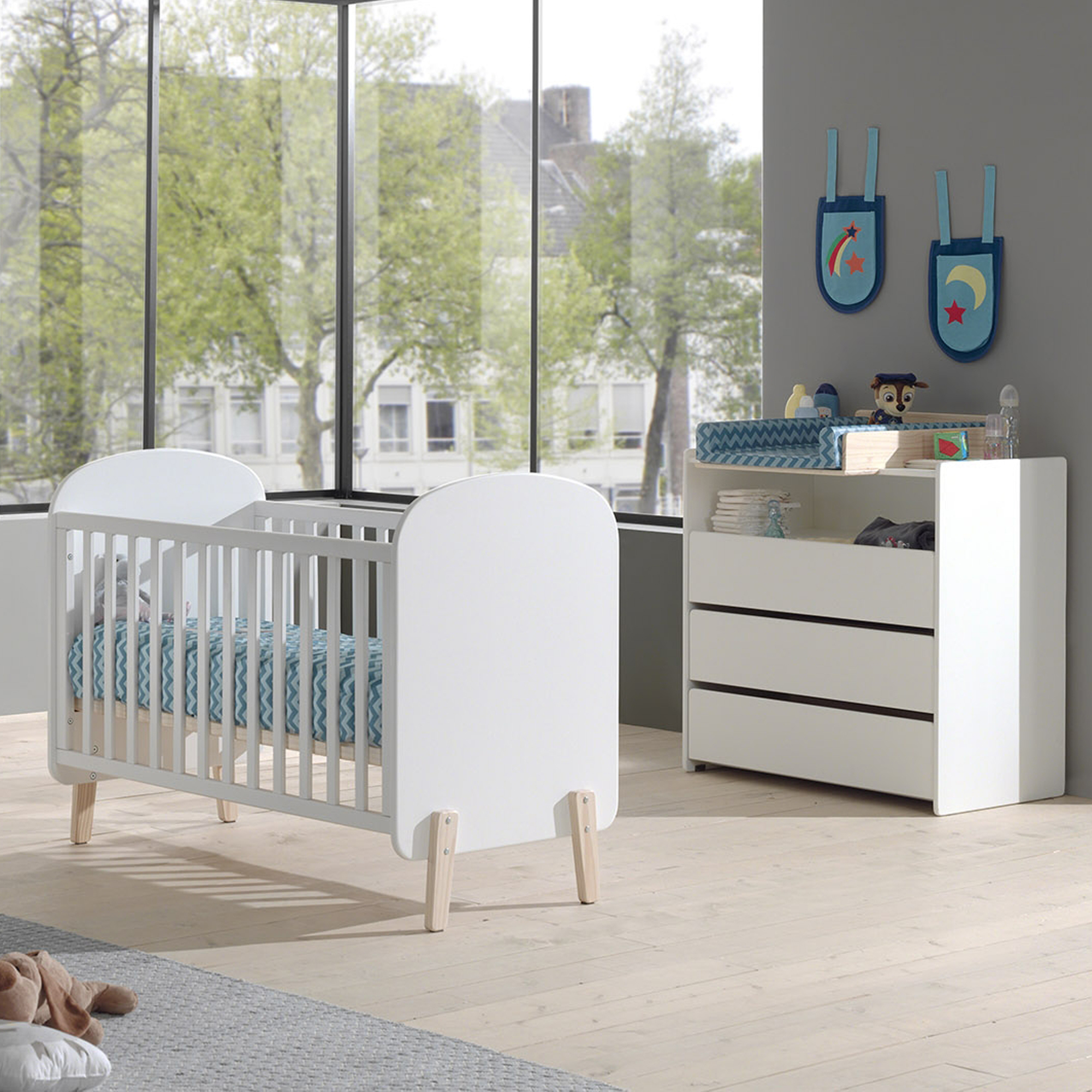 babybett kiddy liegefl che 60 x 120 cm wei kinder jugendzimmer kiddy. Black Bedroom Furniture Sets. Home Design Ideas