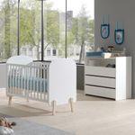 Babybett KIDDY - Liegefläche 60 x 120 cm - Weiß