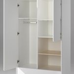Kleiderschrank KIDDY - 2-türig, 2 Schubladen, 2 offene Fächer - Weiß