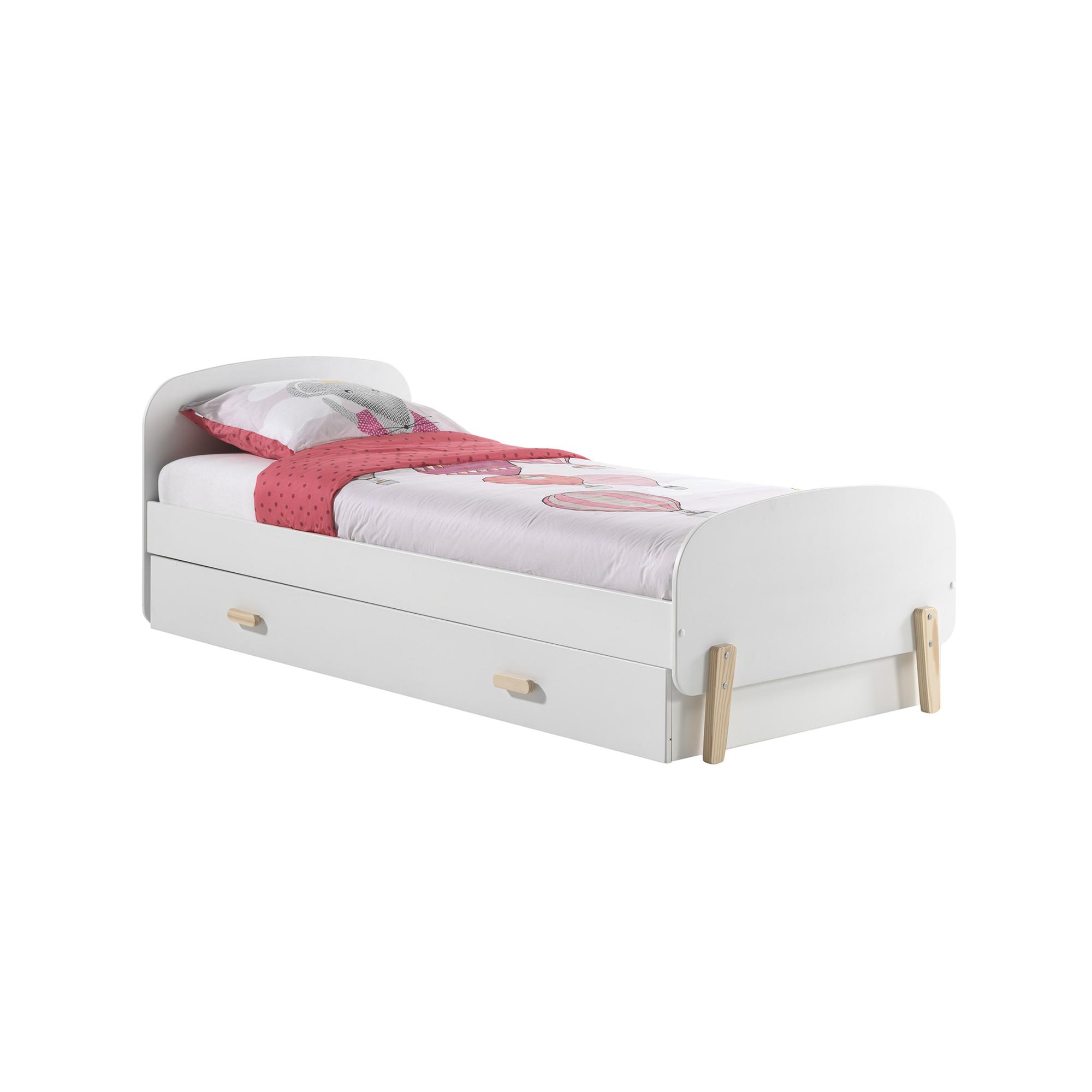 Schön Einzelbett Weiß Beste Wahl Kiddy - Mit Bettschublade - Liegefläche 90