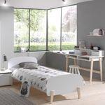 Einzelbett KIDDY - mit Bettschublade - Liegefläche 90 x 200 cm - Weiß
