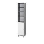 Badmöbel-Set LINDAU - Vario 4 - 5-teilig - 130 cm breit - Weiß / Graphit-Grau