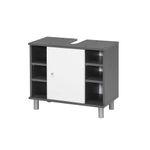 Badmöbel-Set LINDAU - Vario 1 - 4-teilig - 95 cm breit - Weiß / Graphit-Grau