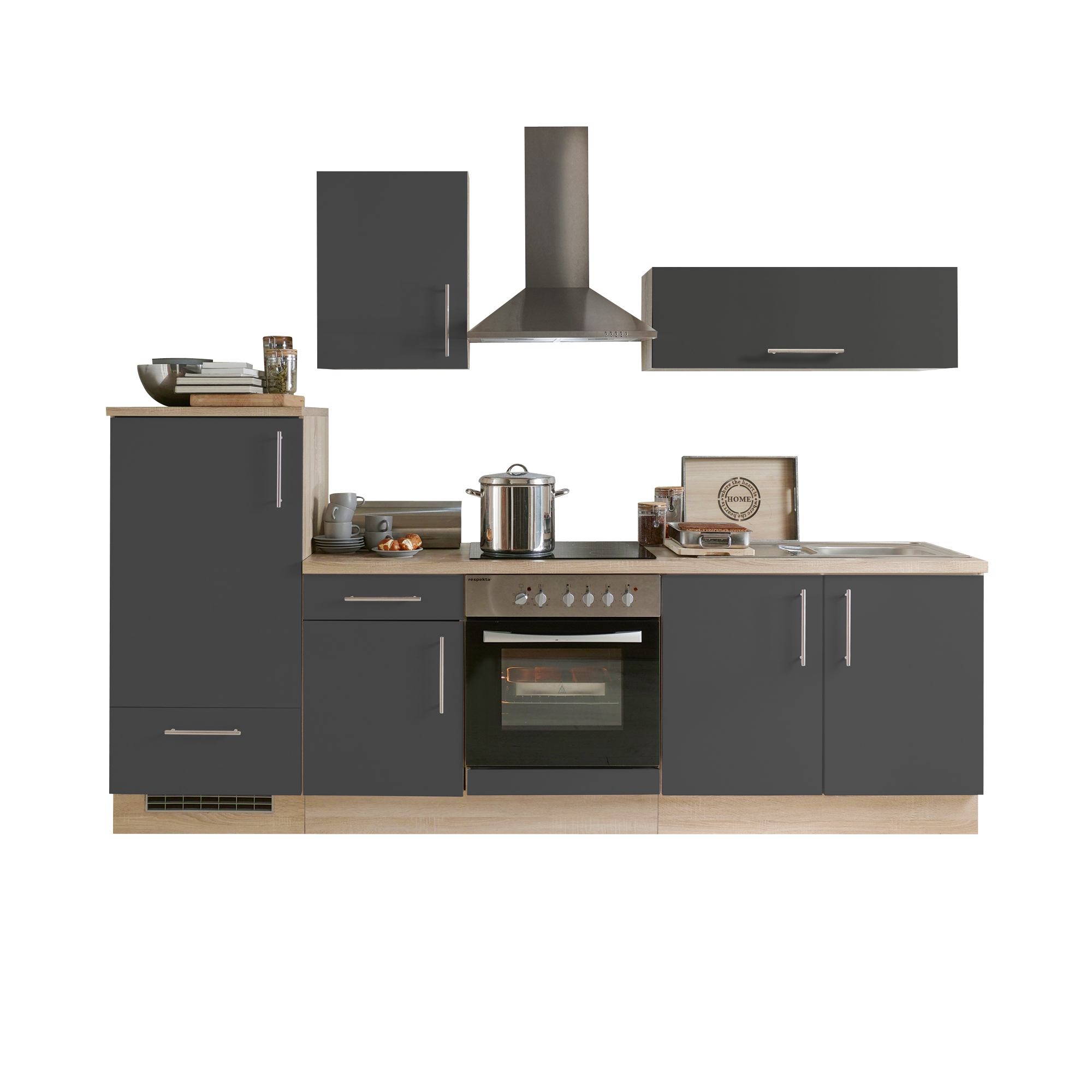 k chenzeile stockholm k che mit e ger ten breite 270. Black Bedroom Furniture Sets. Home Design Ideas