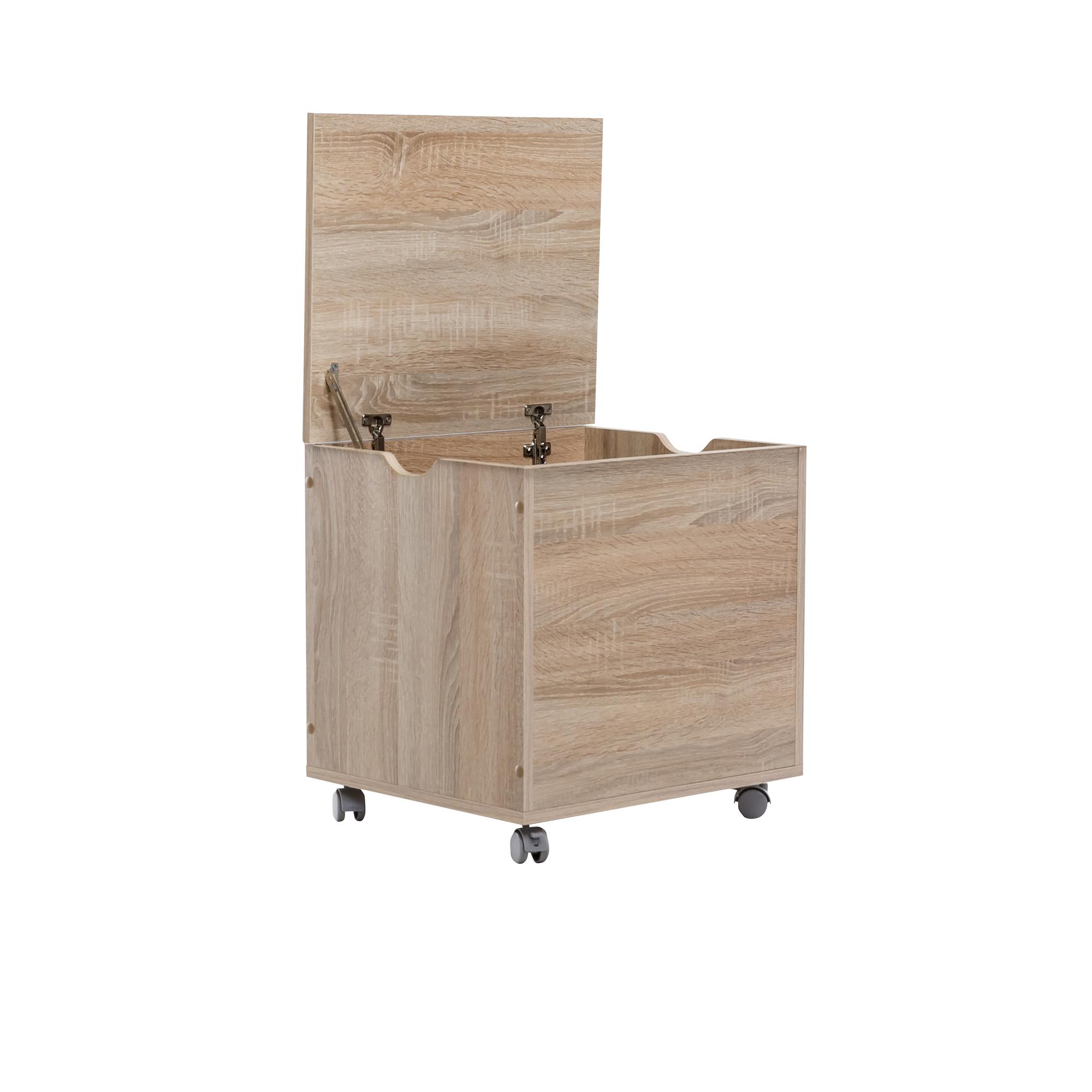 truhe maxi mit klappdeckel und rollen 50 cm breit. Black Bedroom Furniture Sets. Home Design Ideas