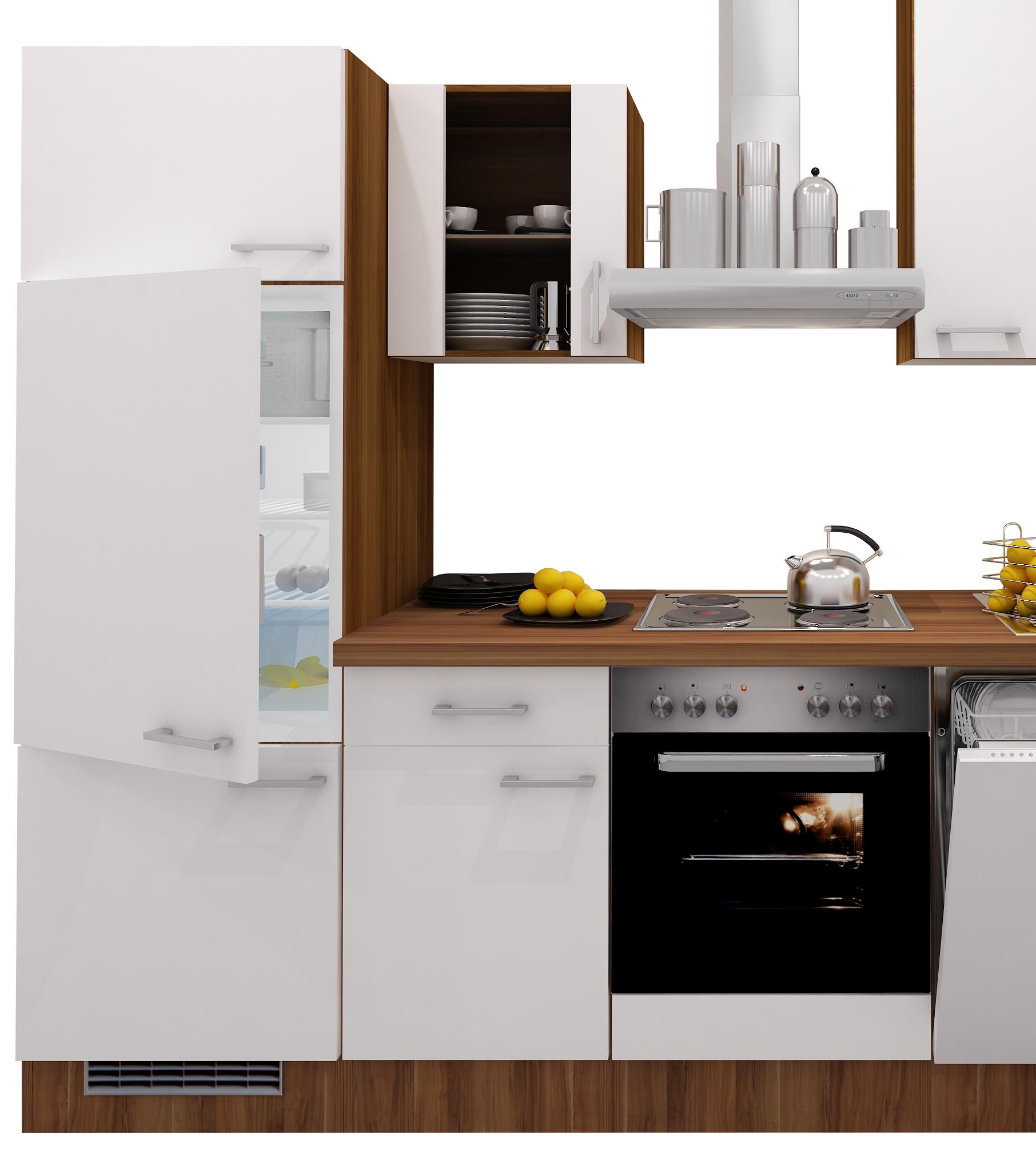 Küchenzeile COSMO mit Elektro Kochfeld 14 teilig