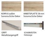 Küchenzeile STOCKHOLM - Mit Geschirrspüler und Glaskeramikkochfeld - Breite 310 cm - Hochglanz Schoko-Braun