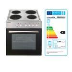 Küchenzeile STOCKHOLM - Küche mit E-Geräten - 15-teilig Elektro - Breite 310 cm - Hochglanz Schoko-Braun
