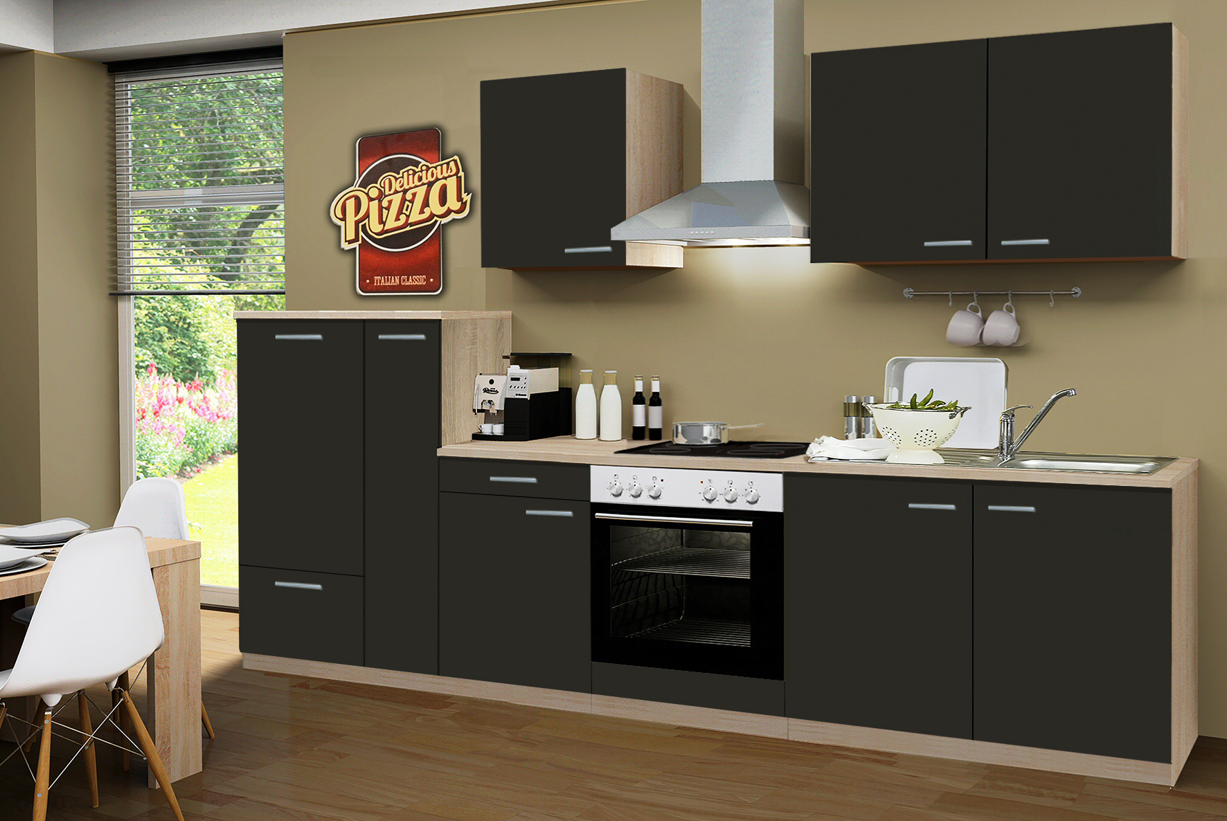 k che mit elektroger ten k chenblock mit e ger ten. Black Bedroom Furniture Sets. Home Design Ideas