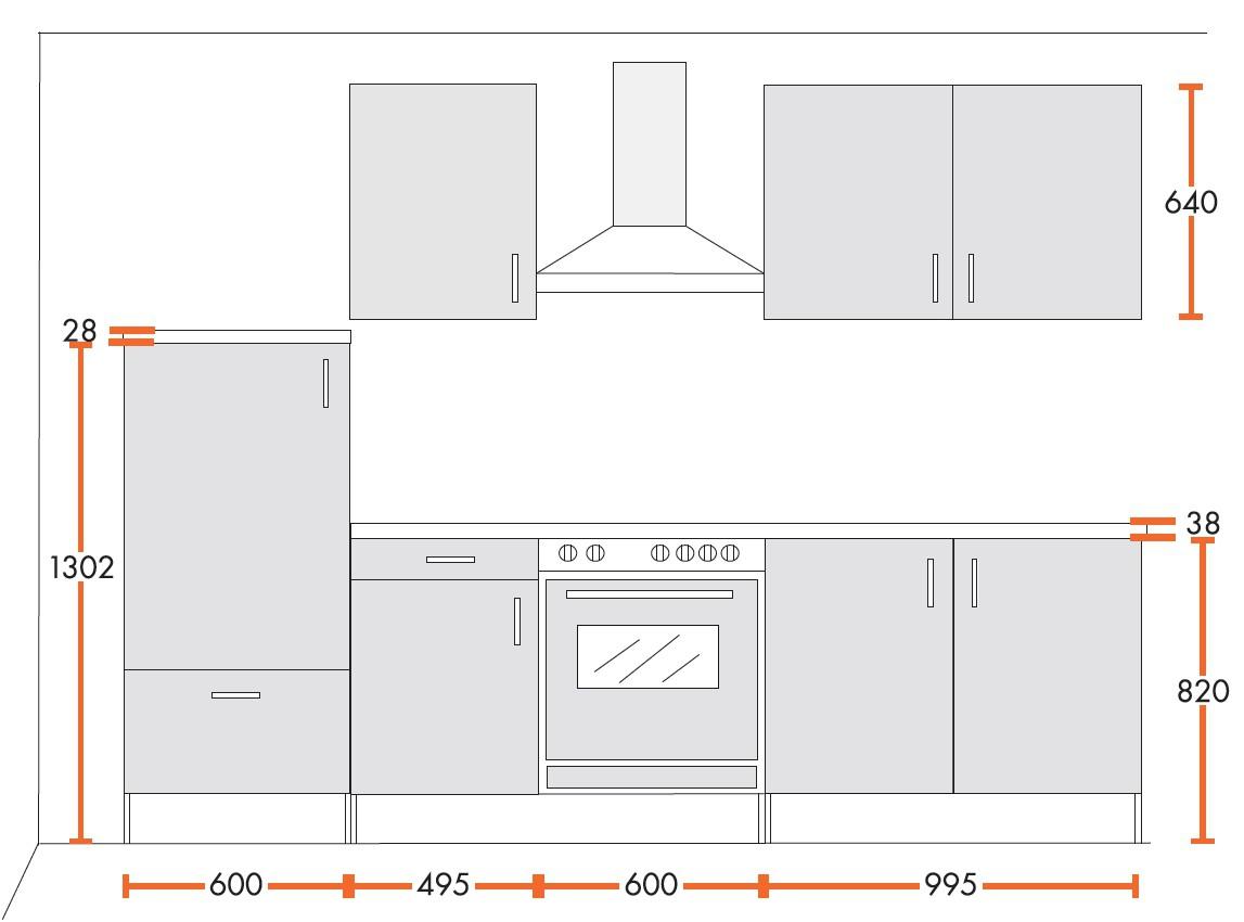 k chenzeile stockholm mit e ger ten und. Black Bedroom Furniture Sets. Home Design Ideas