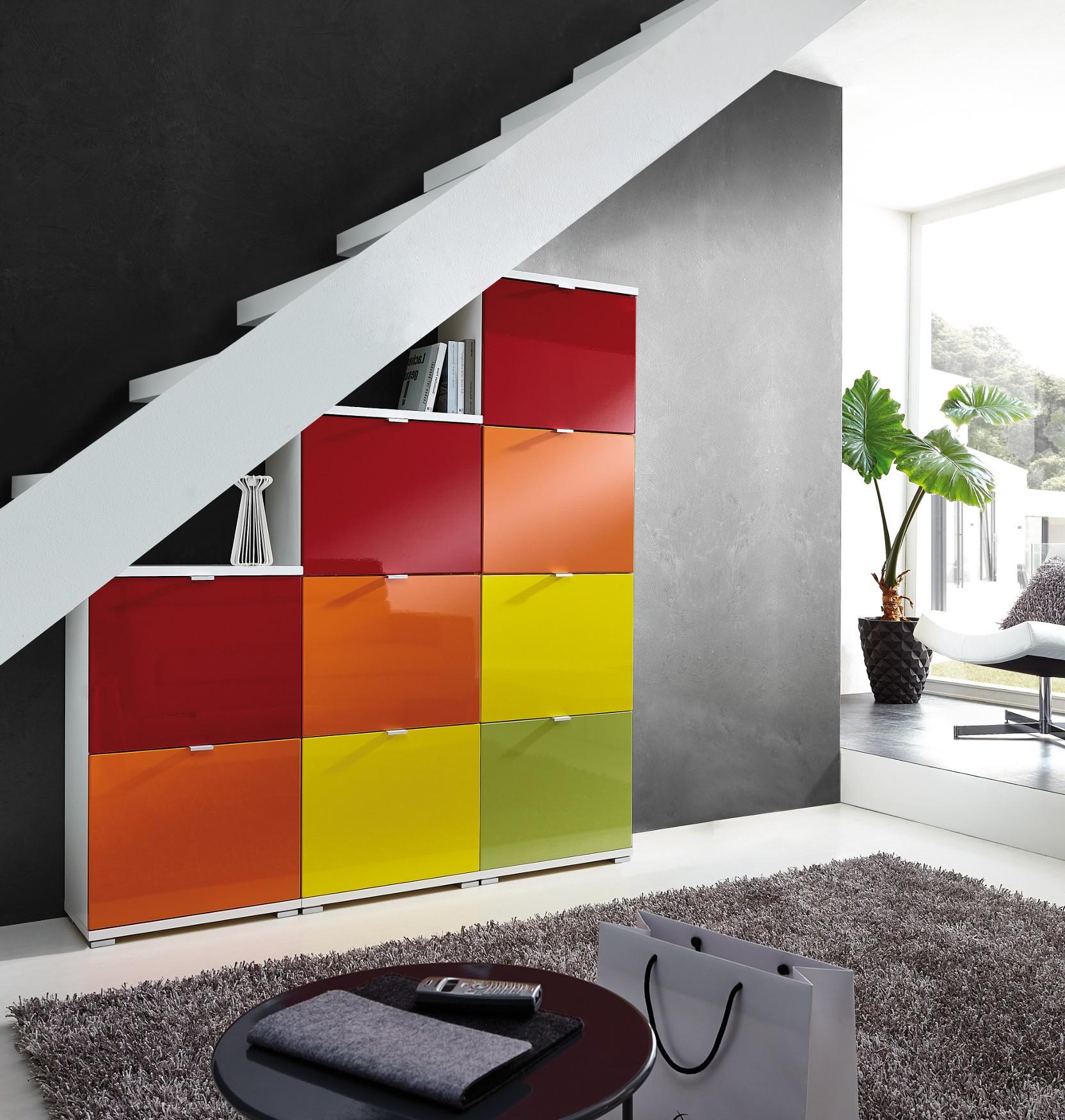 schuhschrank wand potpourri bunter schuhkipper bis zu 36. Black Bedroom Furniture Sets. Home Design Ideas
