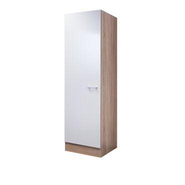 Küchen-Hochschrank ROM - 1-türig - 50 cm breit - Weiß