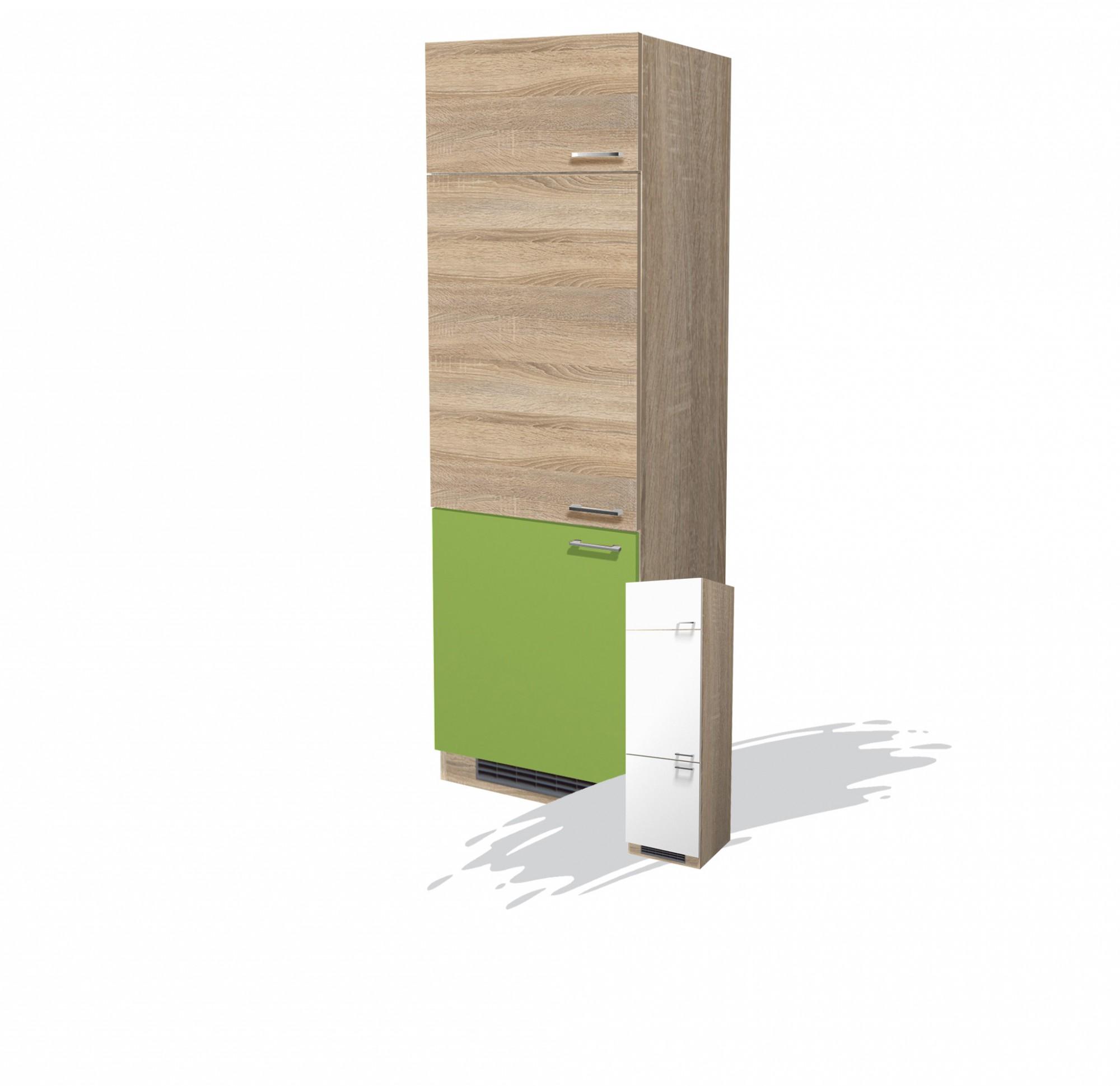k hlschrankumbau rom umbauschrank k chenschrank hochschrank gr n sonoma weiss ebay. Black Bedroom Furniture Sets. Home Design Ideas