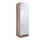 Küchen-Kühlschrankumbauschrank ROM - 3-türig - 60 cm breit - Weiß