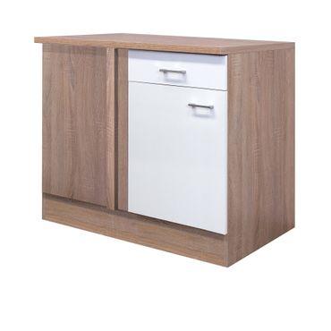 Küchen-Eckunterschrank ROM - 1-türig - 110 cm breit - Weiß