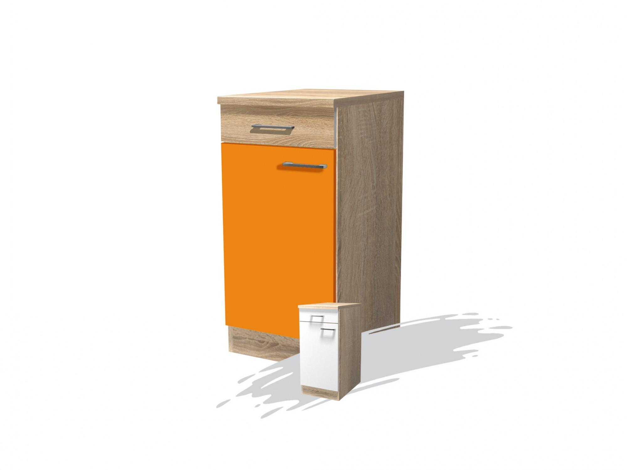 Küchen Unterschrank Rom 1 Türig 40 Cm Breit Orange Küche