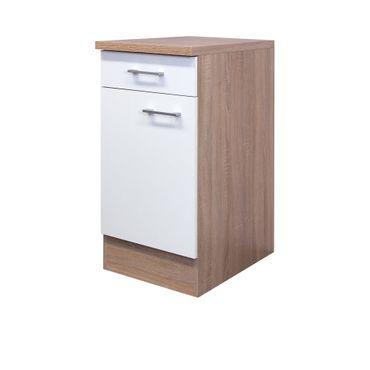 Küchen-Unterschrank ROM - 1-türig - 40 cm breit - Weiß