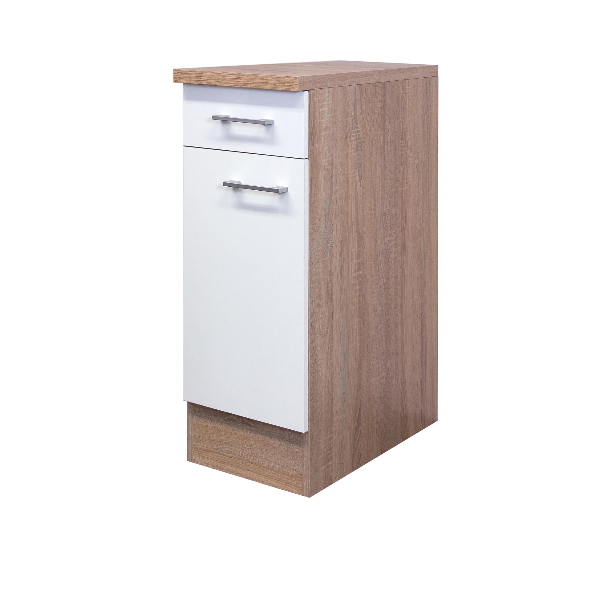 k chen unterschrank rom k chenschrank mit 1 t r 30 cm breit weiss sonoma ebay. Black Bedroom Furniture Sets. Home Design Ideas