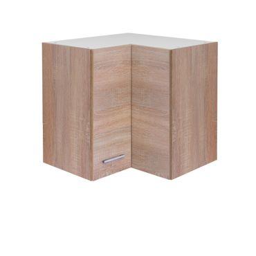 Küchen-Eckhängeschrank ROM - 2-türig - 60 cm breit - Eiche Sonoma